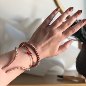 Ryan Storer Jewelry - Ryan Storer Crystal and Rose Gold Wrap Bracelet